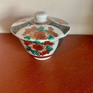 Antique Satsuma Raised Relief Porcelain Rice Dish